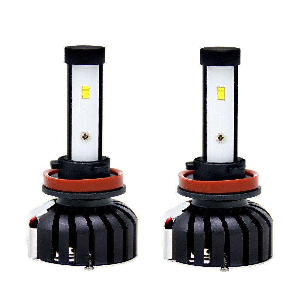 H8/H9/H11 2 шт светодиодный лампы передних фар освещения сборки безопасности автомобиля Универсальный светодиодный фонарь автомобильные аксессуары для укладки
