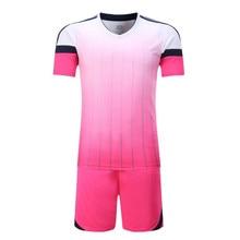 New 2017 Football Jerseys sets Men's Breathable Short sleeves soccer tracksuit custom Blank training survetement football wear