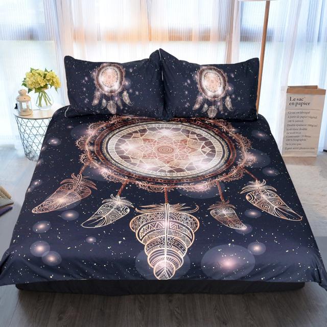 Galaxy Boho Dreamcatcher Bedding Set