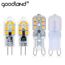 Goodland G4 G9 LED Lamp 3W 5W LED Bulb AC 220V DC 12V SMD2835 Spotlight Chandelier High Quality Lighting Replace Halogen Lamps(China)