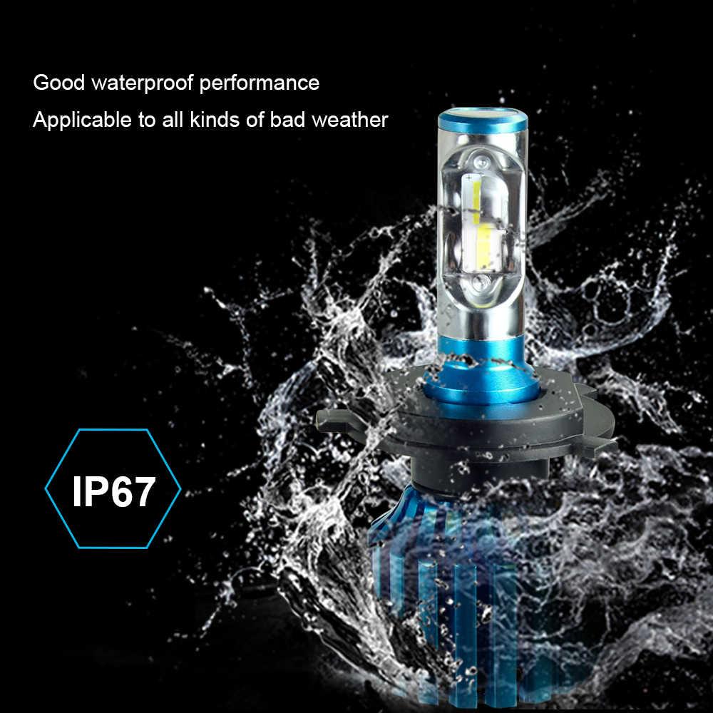 AcooSun H4 H7 Led H11 9005 9006 H3 Car LED Headlight Bulbs 72W 10000LM Flip LED Chips Automible Headlamp Front Lights 6500K 12V