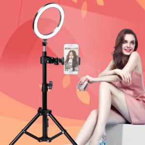 Led-Ring-Light 10inch for Youtube Makeup-Selfie-Tripod Phone-Holder Camera Dimmable Photo-Studio