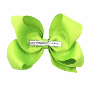 """Image 4 - 30 Pcs 6 Inch Hair Bows for Girls Big Grosgrain Girls 6"""" Hair Bows Alligator Clips For Teens Kids Toddlers"""