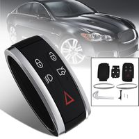 5 Buttons Car Remote Smart Keyless Fob Case Shell W Uncut Key Blade For Jaguar XF