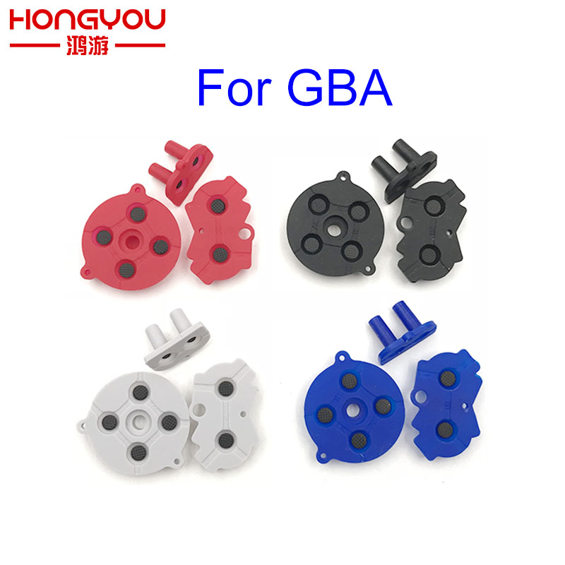 2set Colorful Rubber Conductive Buttons A-B D-pad For GameBoy Advance GBA Silicone Start Select Keypad