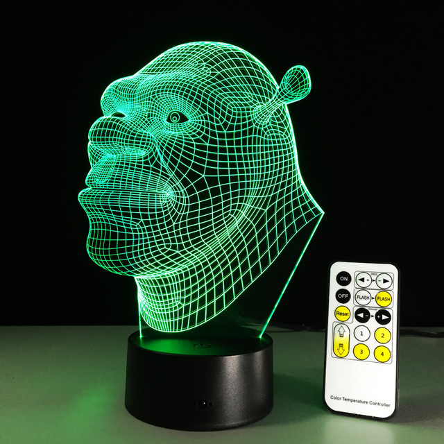 Cartoon Shrek Led Night Light Colorful 3d Night Light Led