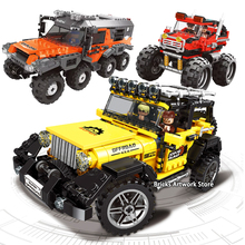 Xingbao Fit Technic Series City Off-road Adventure Truck Car Set Mini Figures DIY Model Building Blocks Toys for Children Boy legoing technic series 42069 2050pcs ultimate extreme adventure car toys for children gift 20057 building blocks set