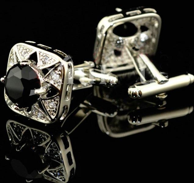 Pulsuz çatdırılma Crystal Cufflinks 6 rəng seçimi dəyirmi - Moda zərgərlik - Fotoqrafiya 6