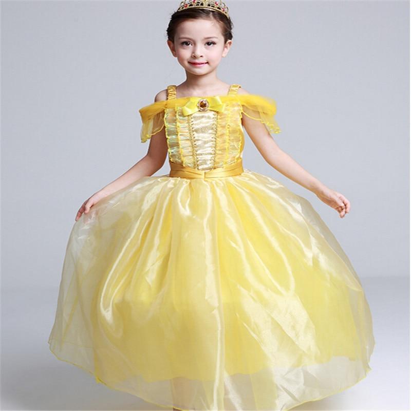 Original Princess Snow White Cinderella Dresses Costumes: Girls Clothes Girls Cinderella Dresses Children Snow White