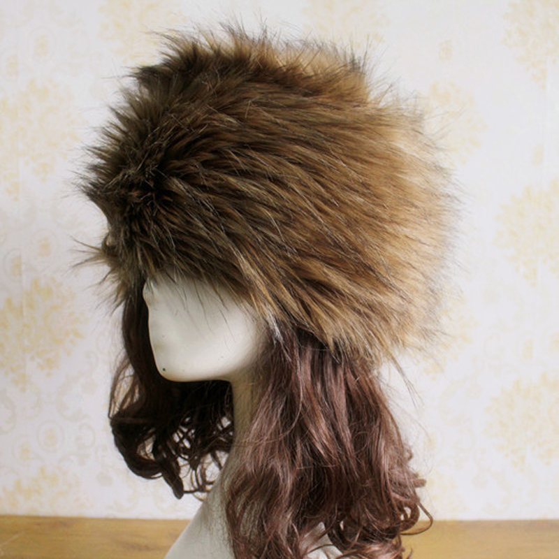 2016 Free Shipping New Ladies Faux Fox Fur Russian Cossack Style Winter Hat 1 6 scale asian men with beard head sculpt for 12 inches male bodies figures dolls accessories brinquedos gifts toys