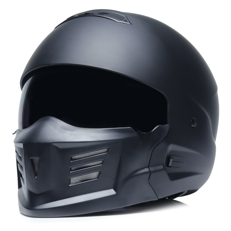 Authentic spot retro motorcycle helmet locomotive personality combination full helmet composite half helmet