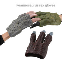 Cool 1 pair of Tyrannosaurus rex gloves,dinosaurs paw toys fans love gifts for kids boys,party decoration game costume accessory