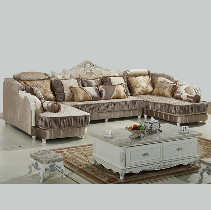 living room furniture modern fabric sofa European sectional sofa set a1279