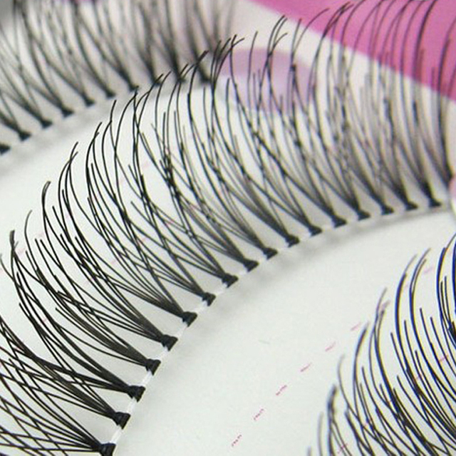 10Pairs Reusable Handmade False Eyelashes Messy Natural Long Eyelash Extensions Fake Eye Lashes Wimpers Stage Makeup Tools False Eyelashes