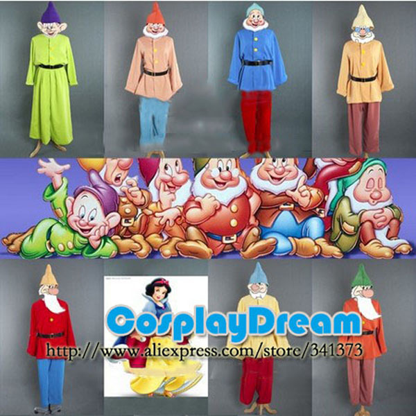 9040346b622 Snow White and The Seven Dwarfs Movie Cosplay Costume Snow White The Seven  Dwarfs Outfit Party