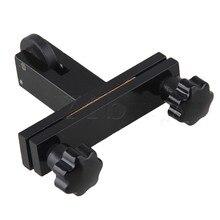 Yibuy 9×6.3cm Black Violin Luthier Tool Redressal Violin Bridge Machine