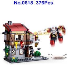Sluban 0618 376 шт Легенда убийцы Броня средневековый замок город таверна строительный блок 3 Фигурки Игрушка