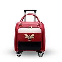 REISE TALE Frauen Leder Koffer Tragen Auf Reise Fall Kabine Gepäck Tasche 16
