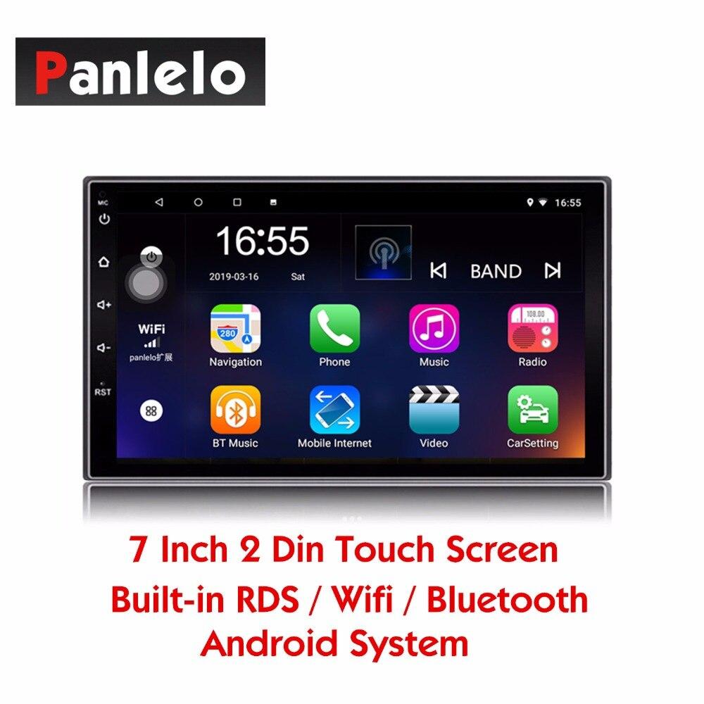 Panlelo S2 2 Din Android tête unité voiture lecteur multimédia Navigation GPS Auto Radio (AM/FM/RDS) lien miroir Bluetooth SWC musique