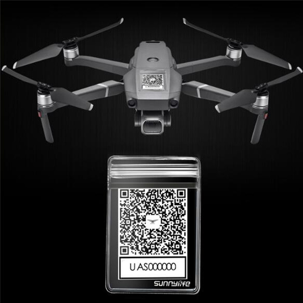 QR CODE Waterproof Bag For DJI MAVIC 2 SPARK MAVIC PRO AIR For XIAOMI Q500 H480 Drone Anti-loss Phone Sticker Protective Case