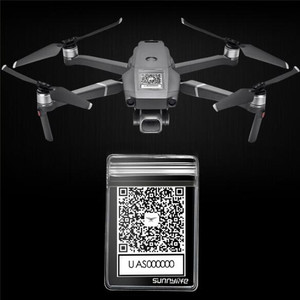 QR CODE Waterproof Bag for DJI MAVIC 2 SPARK MAVIC PRO AIR For XIAOMI Q500 H480 Drone Anti-loss Phone Sticker Protective Case(China)
