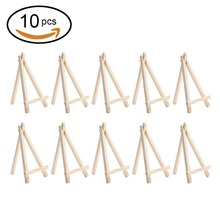 10pcs Mini Artist Wooden Easel Wood Wedding Table Card Stand Display Holder For Party Decoration portable artist wooden easel watercolor easel gouache frame oil paint wood stand wedding table card stand display holder party