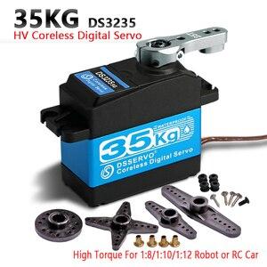 Image 1 - 1X Servo 35Kg Mô men Xoắn Cao Coreless Servo Kỹ Thuật Số Và Chống Thấm Nước DS3235 Servo Arduino Servo Cho Robot DIY, xe Đua