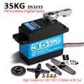 1X35 kg couple élevé sans noyau servomoteur métal engrenage numérique et étanche DS3235 servo arduino servo pour bricolage robotique, voiture RC