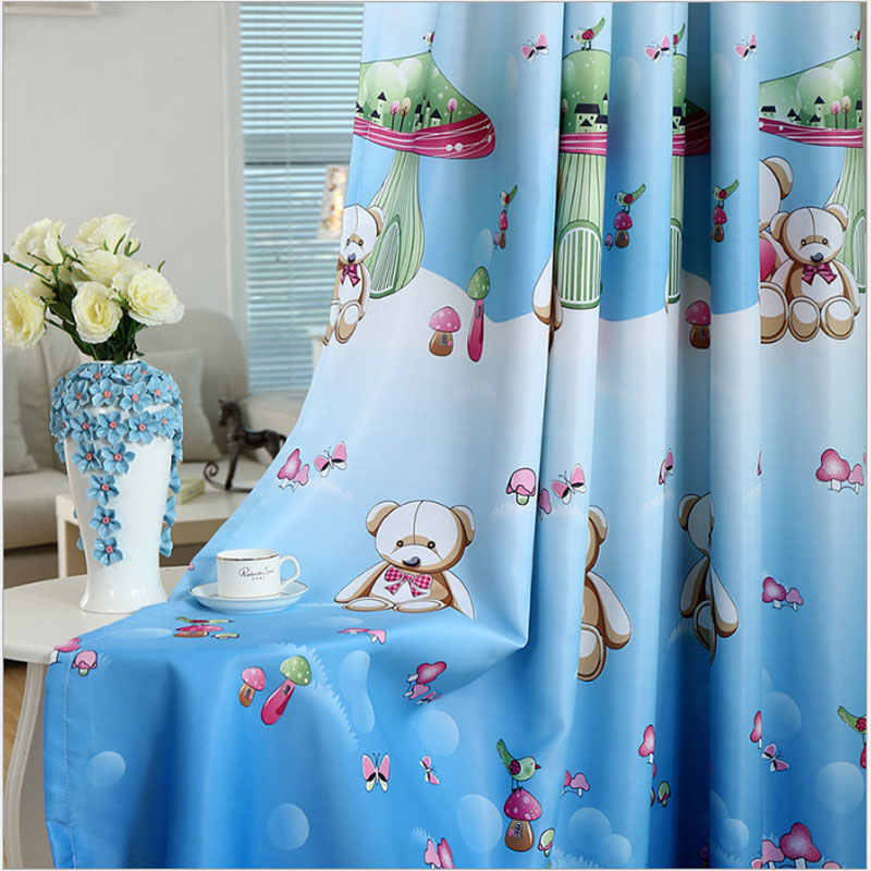 New Arriavals Boys & Girl's Blackout Window Bedroom Curtain Animals Cartoon Printing For Children Living Room Baby Room Curtain