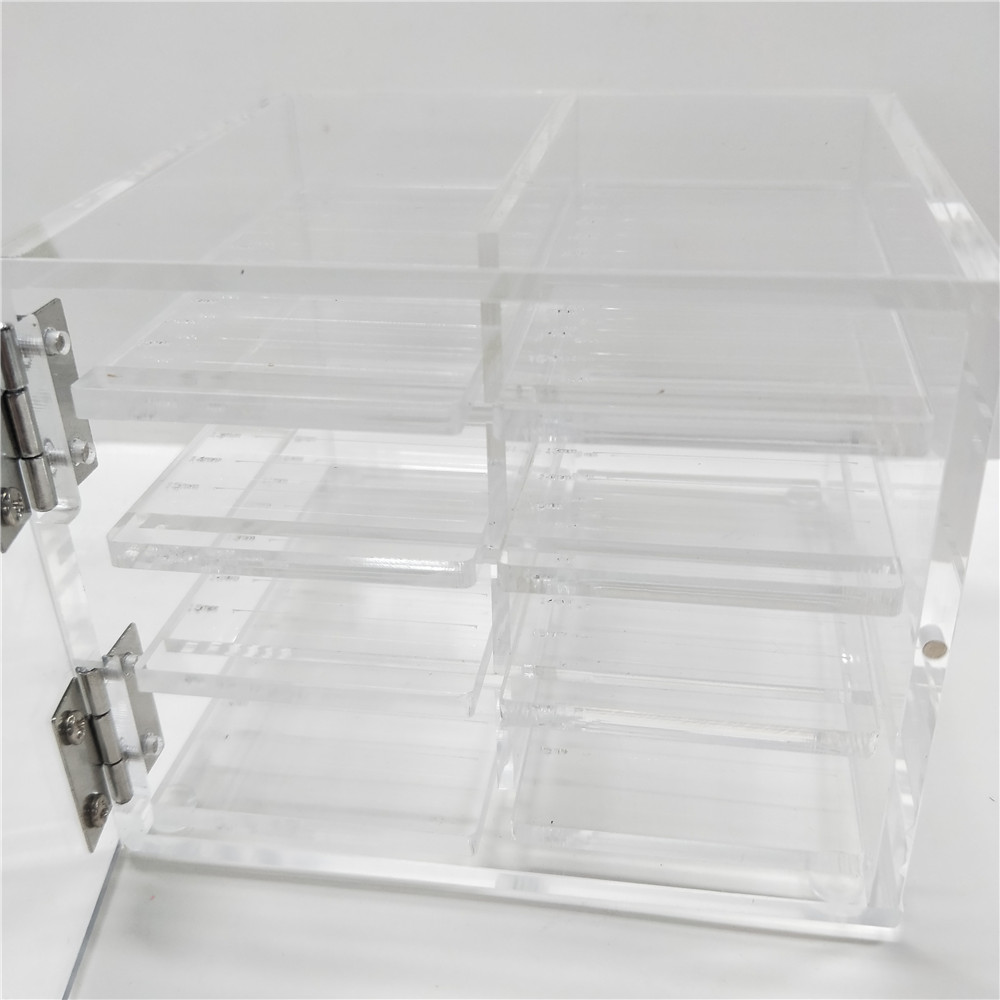 8 pieces tray per 1 set Clear Acrylic Large Box Acrylic Makeup Beauty Tools Eyelash Holder by Free Shipping big size clear stamp block with grid transparent stamp holder acrylic pad diy scrapbooking decoration tools acrylic holder
