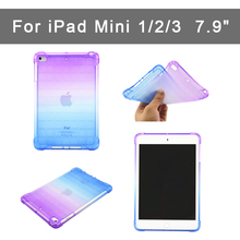 Case For Apple ipad Mini 1/2/3 Gradient Soft TPU Back Cover  for ipad Mini 1 2 3  Slim Protective shell 7.9 Drop resistance portable kids steering wheel for apple ipad mini 1 2 3 eva drop resistance washable stand holder hand held protective case gifts
