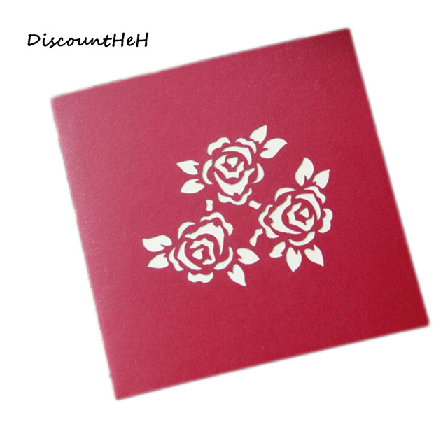 Thank You Cards Postcard With Envelopes 3d Pop Up Paper Laser Cut