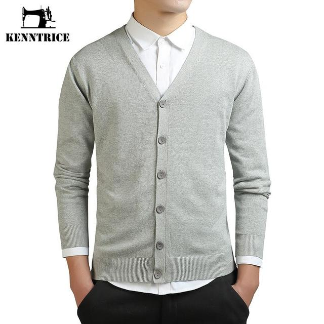 Kenntrice 2016 Warm Winter Sweater Men Cashmere Cardigan Sweaters Thick Casual V-neck Cardigan Big size Sweater Knitwear