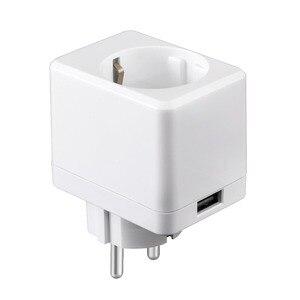 "Image 3 - USB חכם תקע בריטניה/האיחוד האירופי/ארה""ב Wifi חכם שקע שלט רחוק עם Usb יציאת עובד עם Alexa Google בית מיני IFTTT אין רכזת הנדרש"