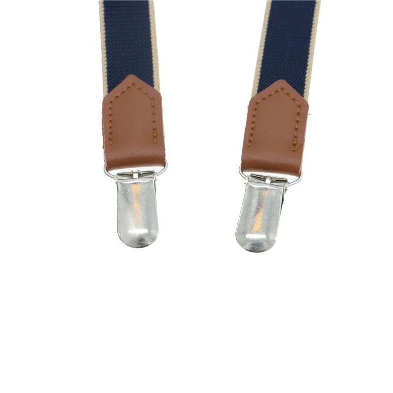 High Quality Split Cowhide Strap Women Suspenders Real Leather Braces 2cm Width No Cross 4 Clips