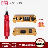 Biomaser Professional Tattoo Kits Rotary Gun Adjust Tattoo Power Supply Tattoo Pen Machine Set LCD Mini Power Equipment Supplies