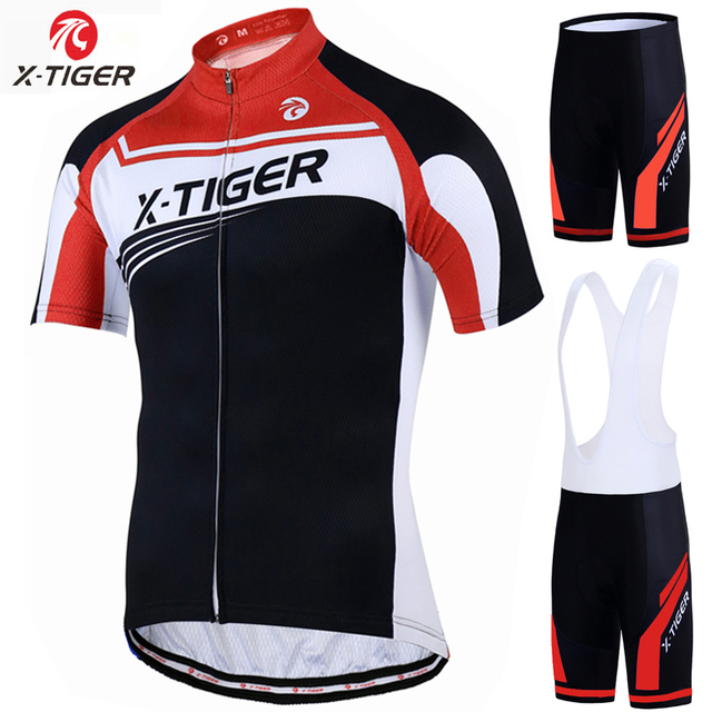 X-Tiger Pro Cycling Jersey Set 100% Polyester MTB Bike Clothes Kit Racing  Bicycle 6d4e7965c