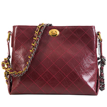 2019 Bag Women Shoulder Bags Designer Handbags High Quality Korean Version Chain  New Fashion Plaid Hasp Pu Flap Versatile doodoo 2017 new women pu soft handbags fashion style cover satchels patchwork shoulder bags c c channel high quality versatile