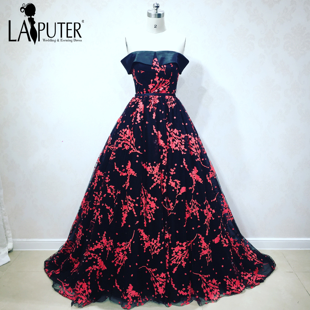 Custom Made 2018 New Arrival Black Lace Evening Prom Dresses Off The ...