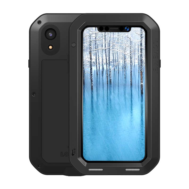 Original Aluminum Metal Case For Apple iphone XR Case Outdoor Powerful Armor Shockproof Life Dustproof Protection Case JS0499