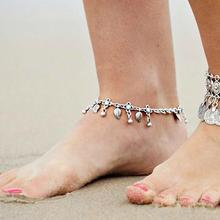 imixlot 2019 Bohemia Beach Barefoot Sandals Anklet Chain Silver Leaf Tassel Foot Bracelet Fashion Jewelry for Women Ankle