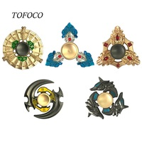 Tofoco Hand Spinner Fidget Spinner Stress Cube Brass Hand Spinners Focus KeepToy And ADHD EDC Anti