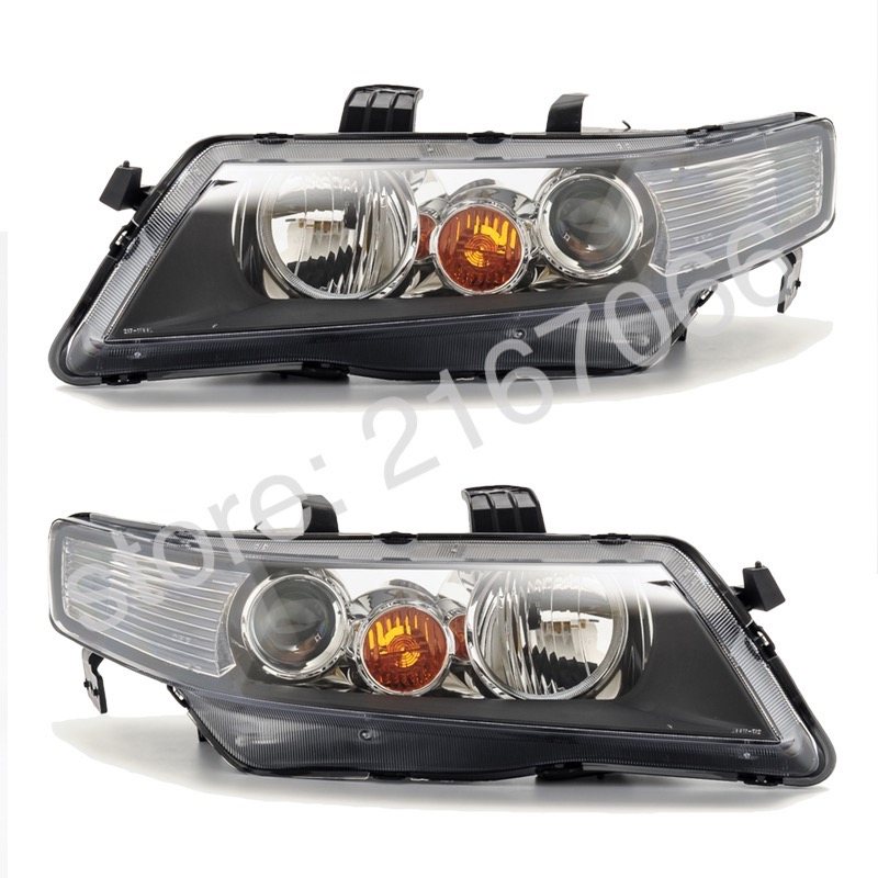 Headlights For HONDA ACCORD 2002 2003 2004 2005 SET Right + Left PAIR - For Electric Leveling, Halogen