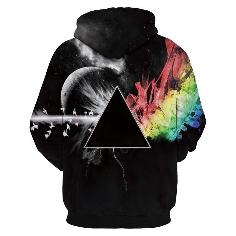 3D Cool Hoodie Designs Sunlight Refraction Rainbow Pullover