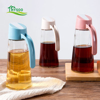 Automatic Opening And Closing Glass Oil Bottle Household Leakproof Oil Bottle Kitchen Large Oil Tank Soy