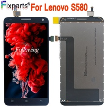 "100% Tested For Lenovo S580 LCD Display Touch Screen Digitizer Assembly Replacement Parts 5.0"" For Lenovo S580 LCD"