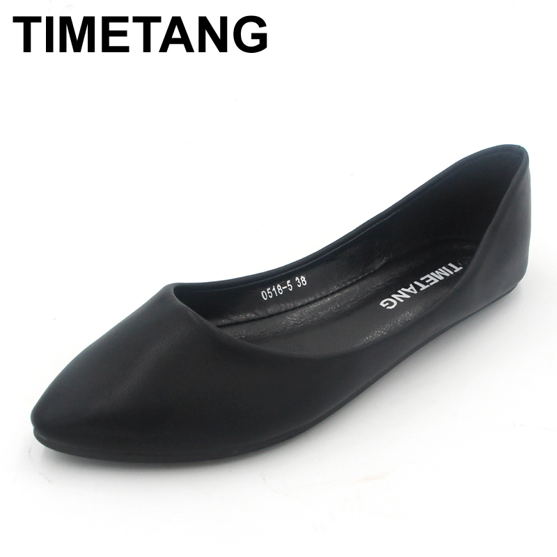 TIMETANG new 2017 fashion high quality vintage women flat shoes women flats and women's spring summer autumn shoes new 2017 spring summer women shoes pointed toe high quality brand fashion womens flats ladies plus size 41 sweet flock t179