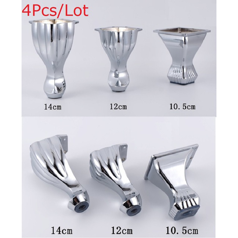 4Pcs/Lot Furniture Bath Coffee Bar Sofa Chair Zinc Leg Legs Feet With Screws,Chrome