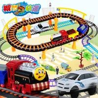 Toys thomas pociąg dzieci małe lokomotywy elektryczne kolejowym samochód tor wyścigowy garnitur chłopiec samochodzik dla dzieci prezent dzieci toys