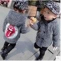 Дети Мальчики Зима Шерстяное Пальто Шерстяное Ребенок Ребенок Ветровка Горячие Детская Одежда Серый